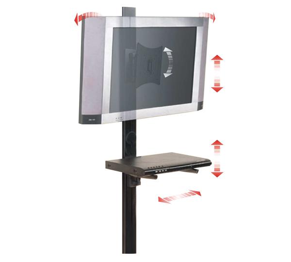 Supporto 1 snodo vesa 200 200 mensola dvd sistem - Porta tv con rotelle ...