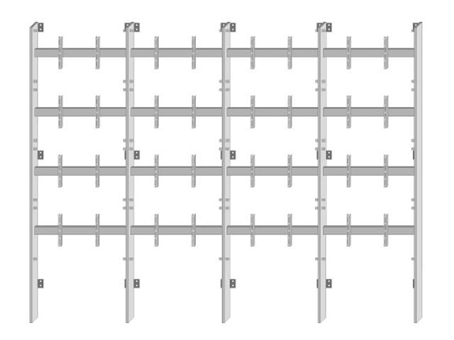 Struttura 4 x 4 primo monitor h 60 – Parete Cartongesso ...
