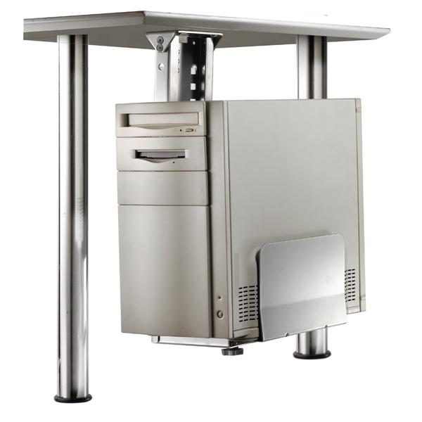 Porta pc con fissaggio sottoscrivania silver itb solution - Sgabelli ergonomici ikea ...