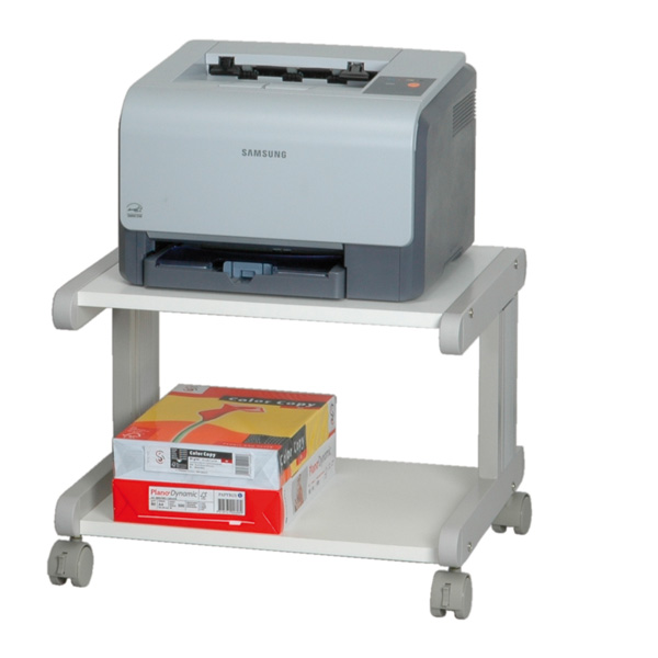 Tavolo porta stampante 1 ripiano h 38 cm itb solution for Mobile per stampante ufficio