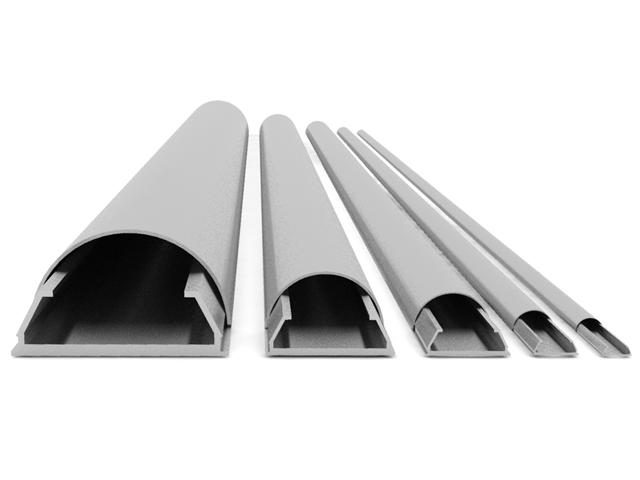 Canalina copricavi larghezza 20 mm lunghezza 1.6 m – silver  ITB Solution