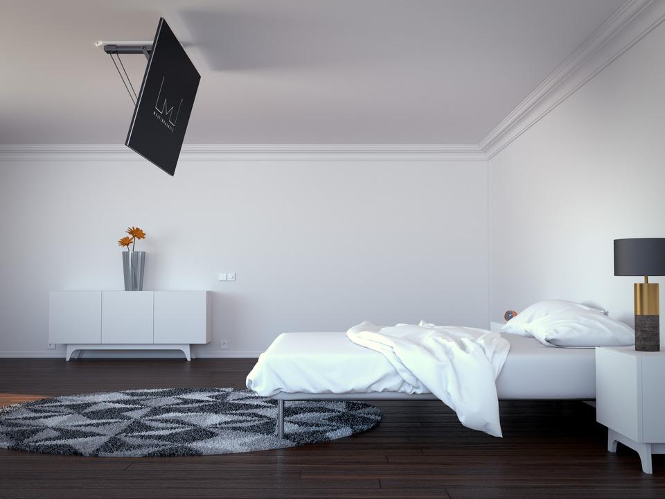 Supporto a soffitto motorizzato itb solution - Porta tv a soffitto ...